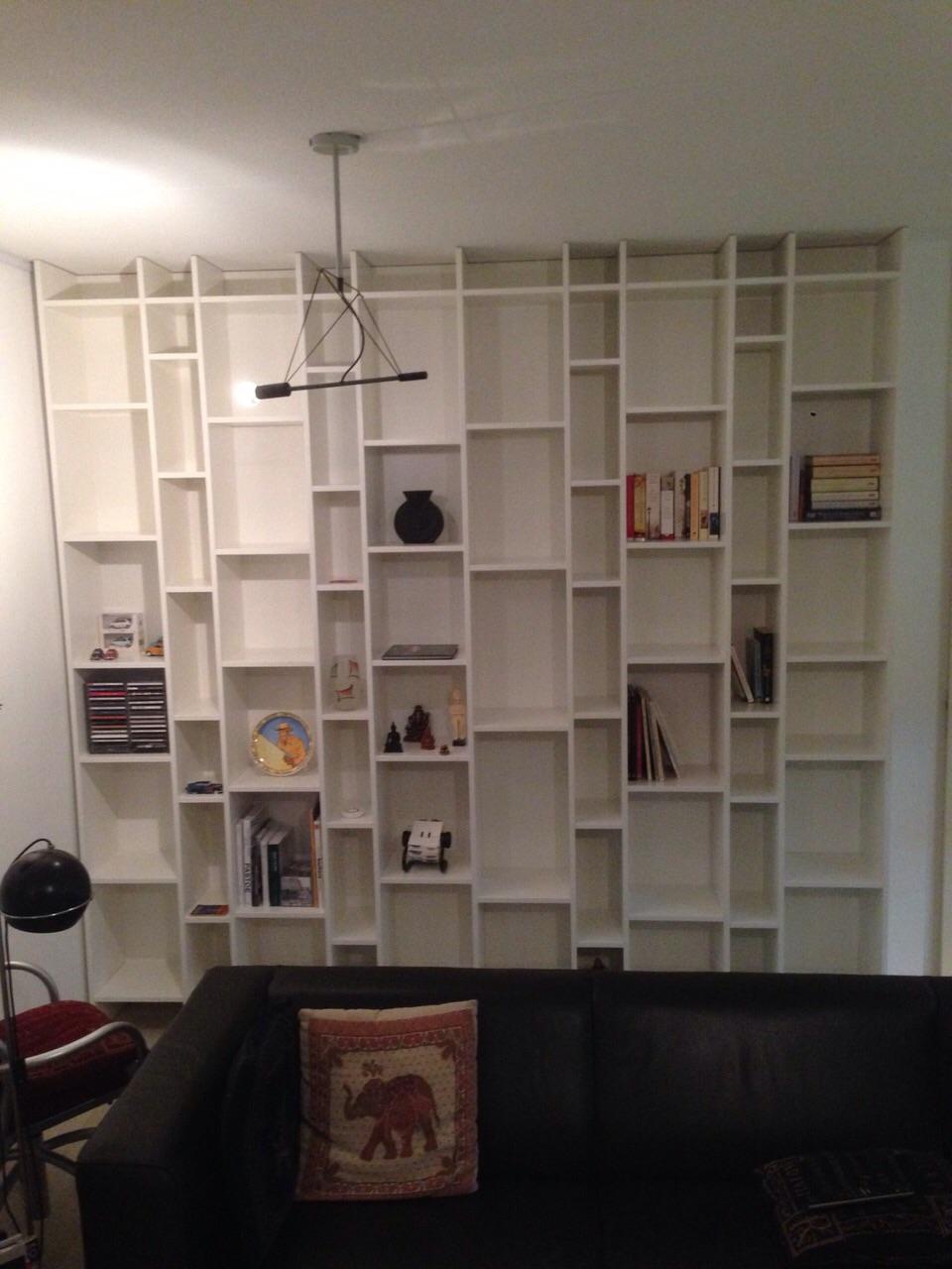 Boekenkast in Woonkamer - Meubelmakerij van Diemen