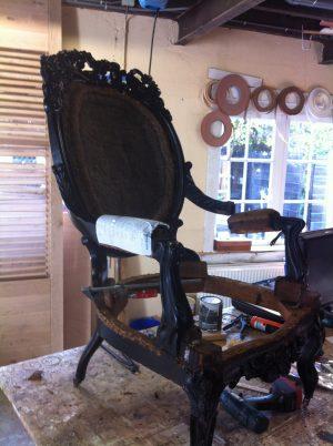 Restauratie Barok stoel